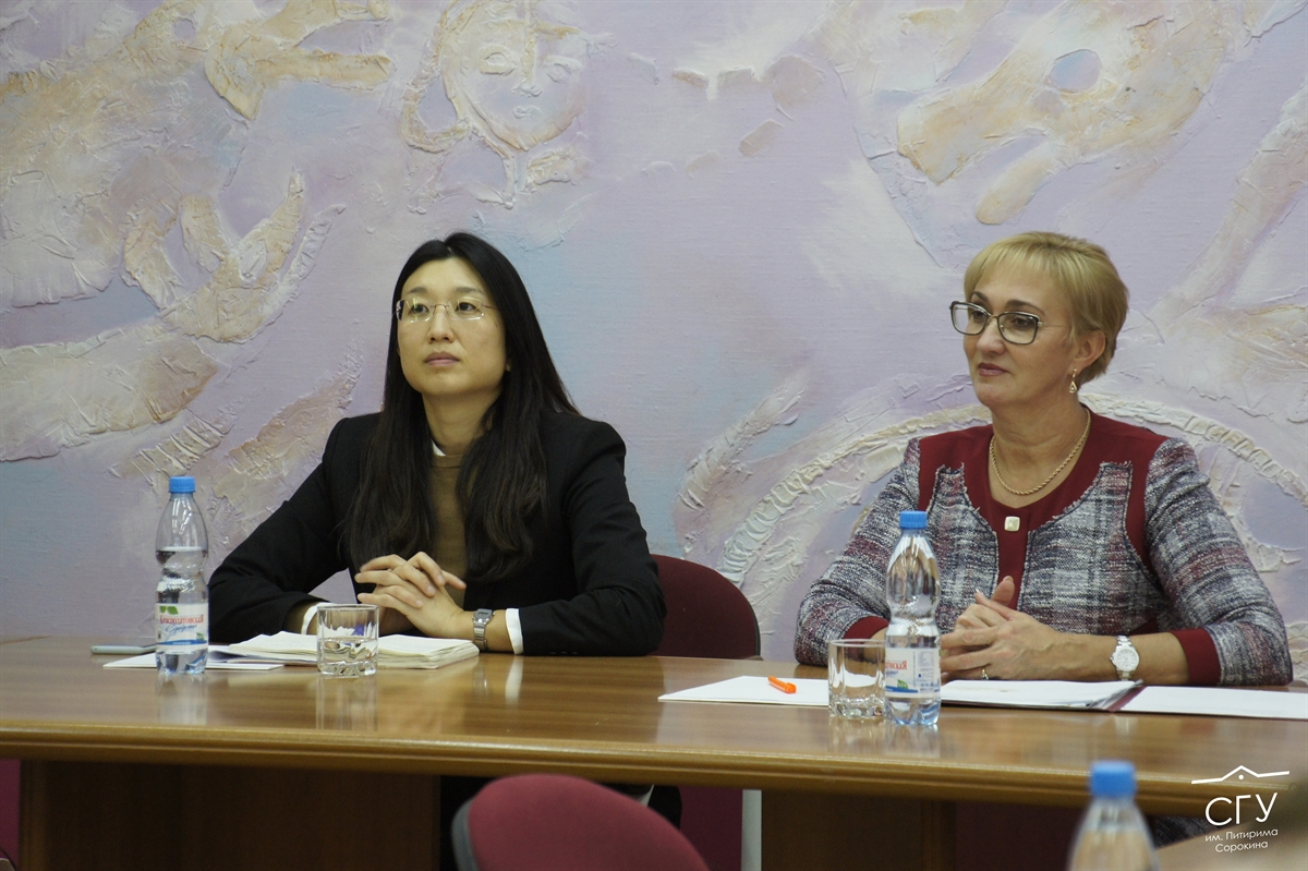 The delegation of the Consulate General of the Republic of Korea in St. Petersburg visited Pitirim Sorokin Syktyvkar State University
